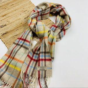 BURBERRY London 100% Cashmere plaid scarf
